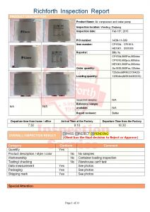 Container Loading Inspection Report