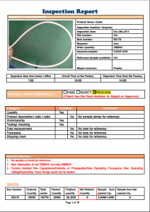Cable Inspection Report