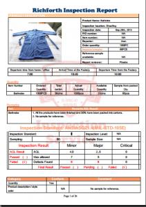 Bathobe Inspection report